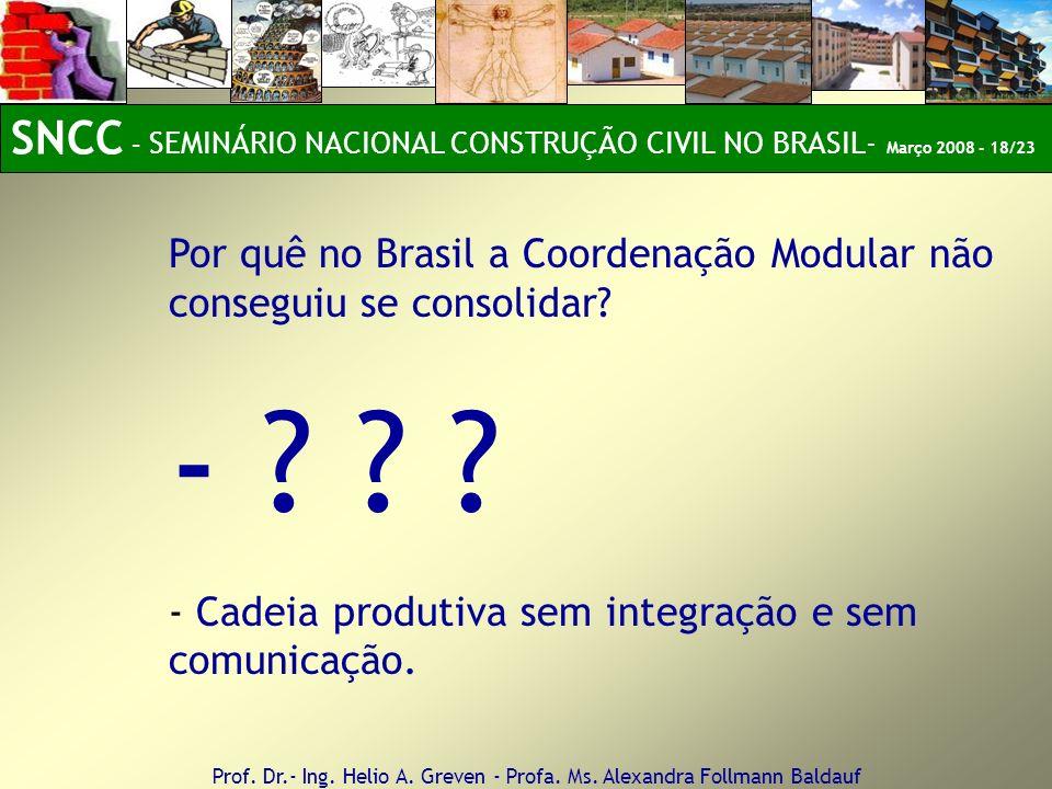 SNCC – SEMINÁRIO NACIONAL CONSTRUÇÃO CIVIL NO BRASIL- Março 2008 - 18/23