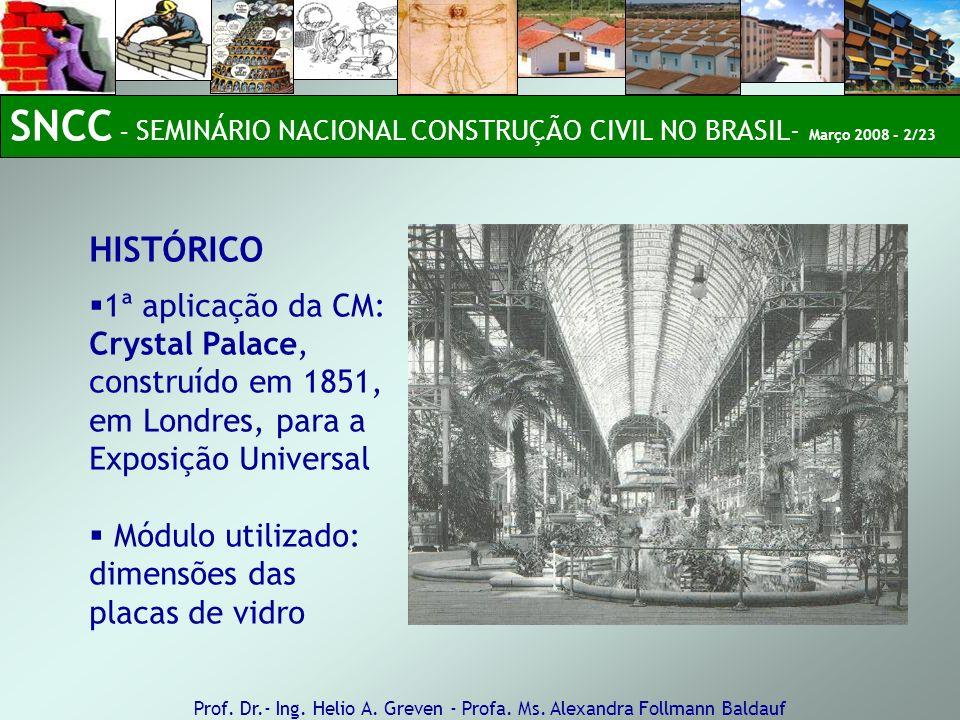 SNCC – SEMINÁRIO NACIONAL CONSTRUÇÃO CIVIL NO BRASIL- Março 2008 - 2/23