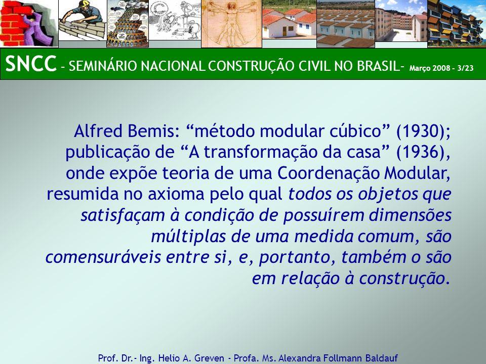SNCC – SEMINÁRIO NACIONAL CONSTRUÇÃO CIVIL NO BRASIL- Março 2008 - 3/23