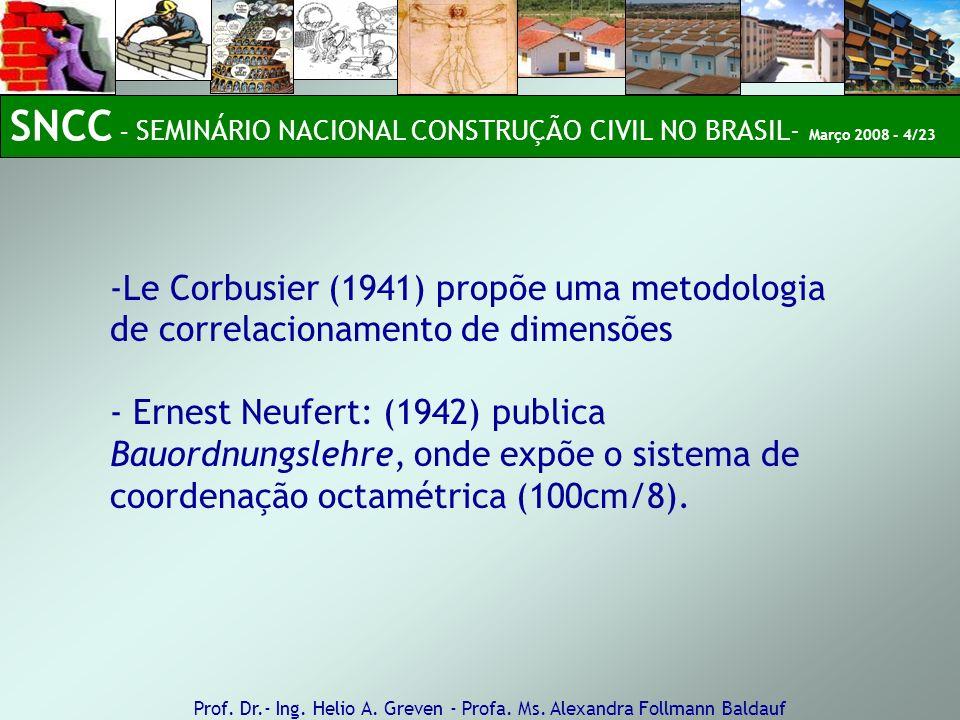 SNCC – SEMINÁRIO NACIONAL CONSTRUÇÃO CIVIL NO BRASIL- Março 2008 - 4/23