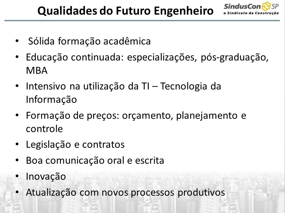 Qualidades do Futuro Engenheiro