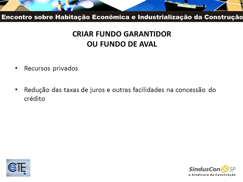 CRIAR FUNDO GARANTIDOR OU FUNDO DE AVAL