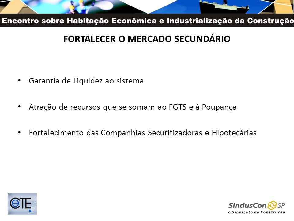 FORTALECER O MERCADO SECUNDÁRIO