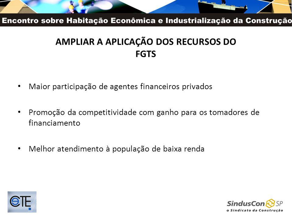 AMPLIAR A APLICAÇÃO DOS RECURSOS DO FGTS