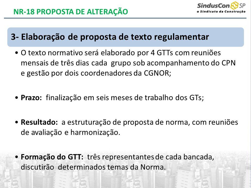 3- Elaboração de proposta de texto regulamentar