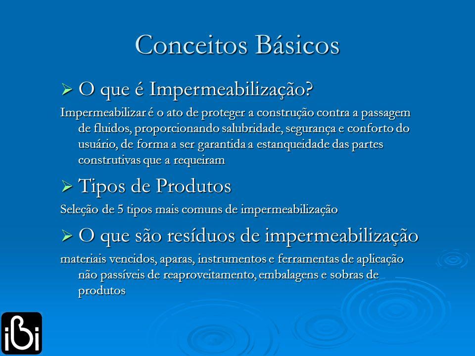 Conceitos Básicos O que é Impermeabilização Tipos de Produtos