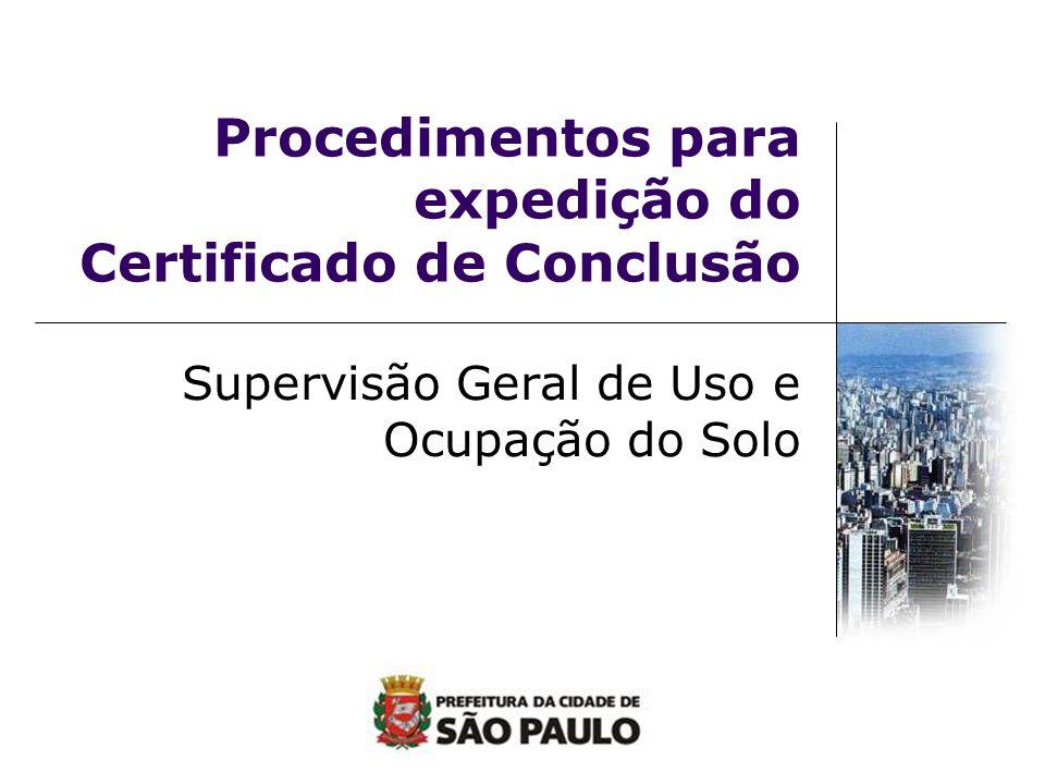 Procedimentos para expedição do Certificado de Conclusão