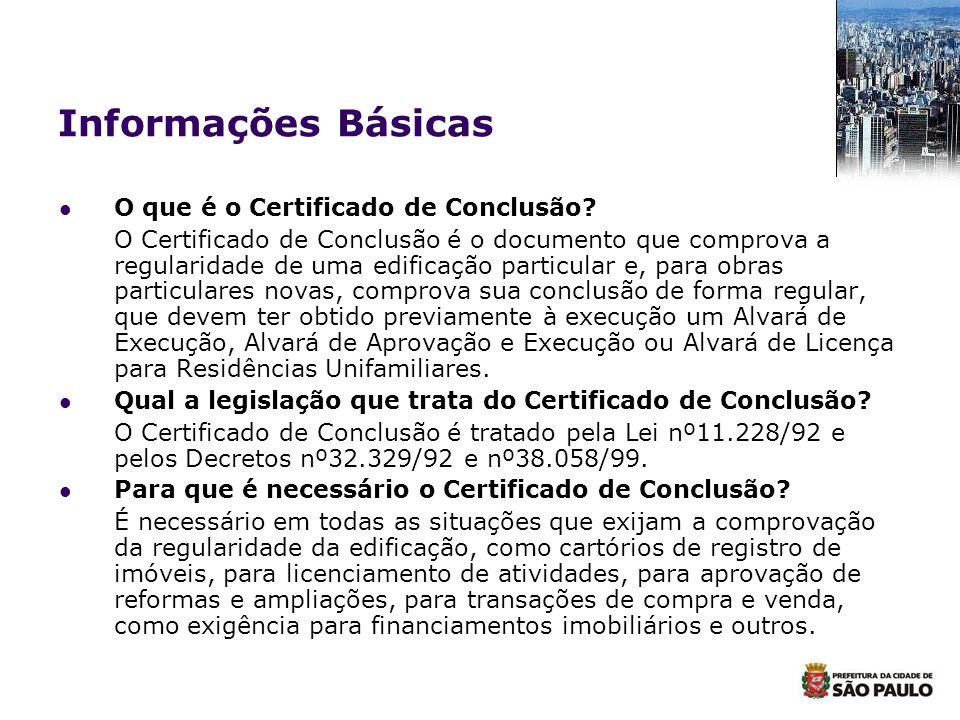 Informações Básicas O que é o Certificado de Conclusão
