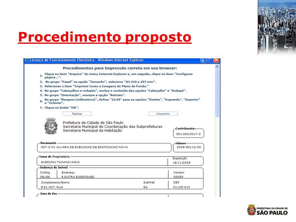Procedimento proposto