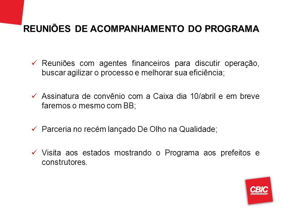 REUNIÕES DE ACOMPANHAMENTO DO PROGRAMA
