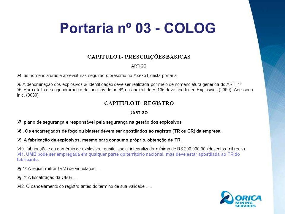 CAPITULO I - PRESCRIÇÕES BÁSICAS