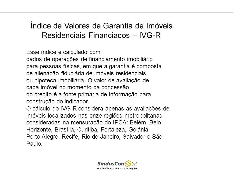 Índice de Valores de Garantia de Imóveis Residenciais Financiados – IVG-R