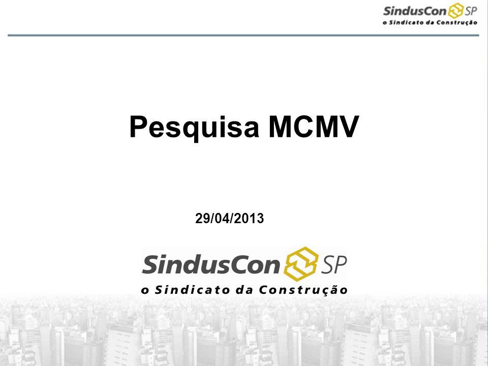 Pesquisa MCMV 29/04/2013