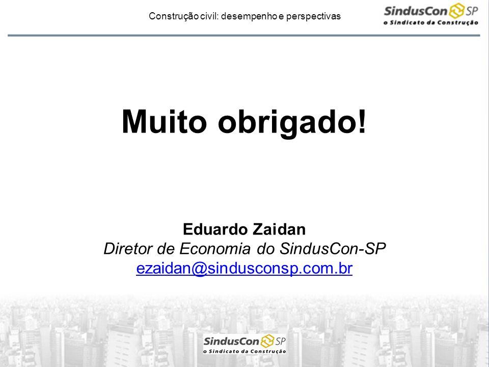 Diretor de Economia do SindusCon-SP