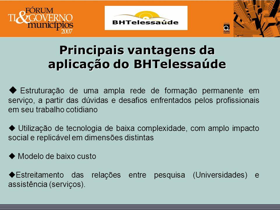 Principais vantagens da aplicação do BHTelessaúde
