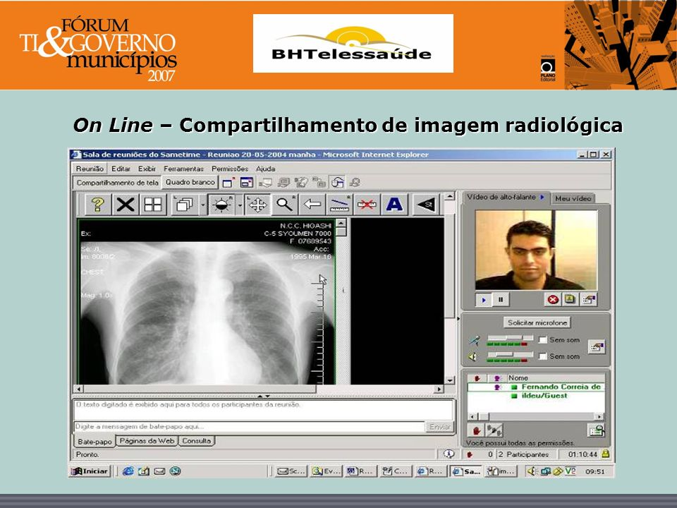 On Line – Compartilhamento de imagem radiológica