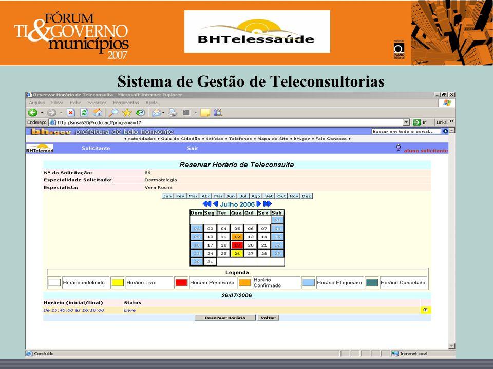 Sistema de Gestão de Teleconsultorias