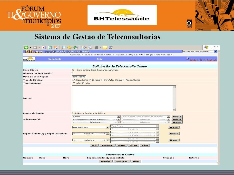 Sistema de Gestao de Teleconsultorias