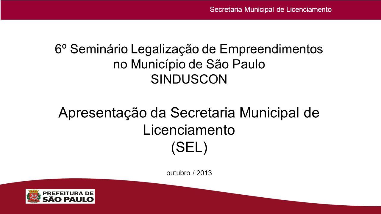 Apresentação da Secretaria Municipal de Licenciamento (SEL)
