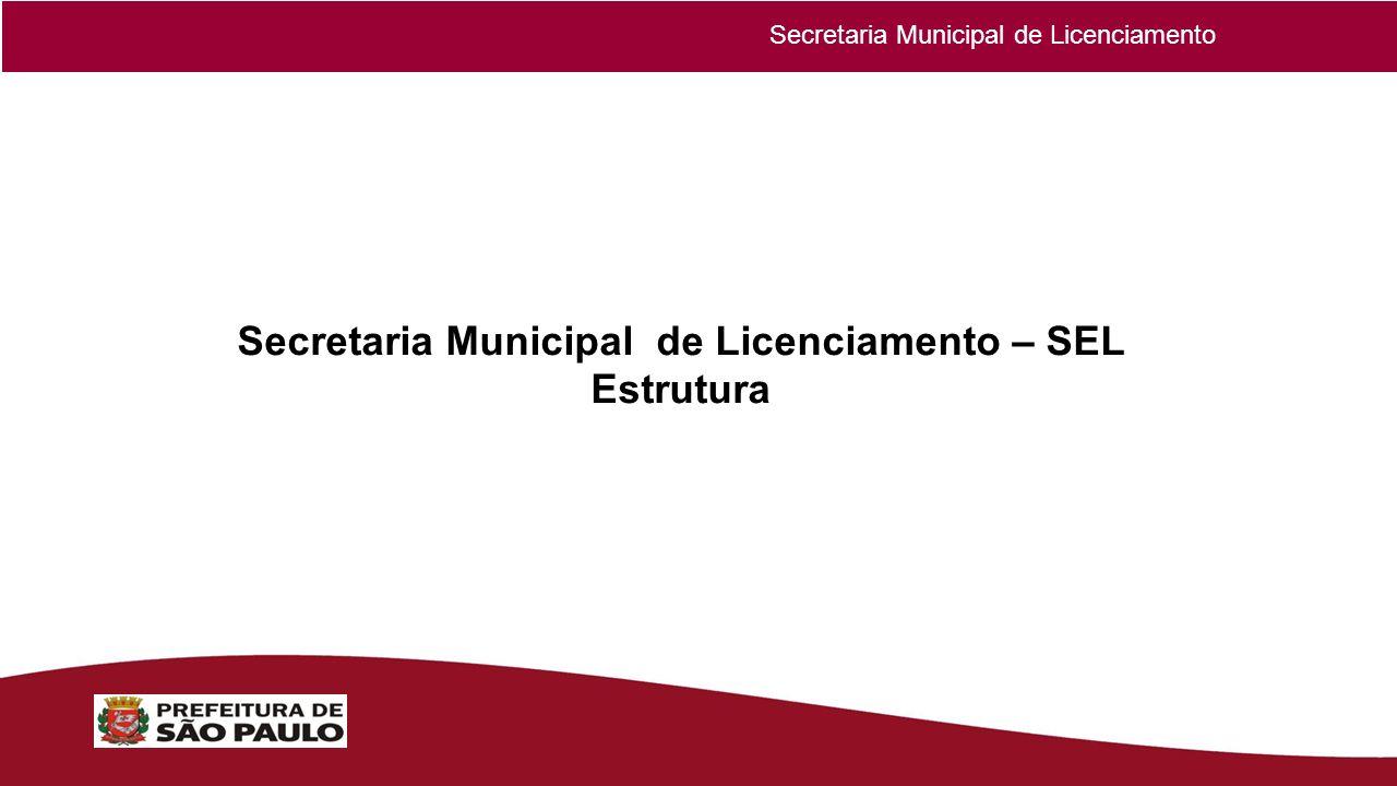 Secretaria Municipal de Licenciamento – SEL Estrutura