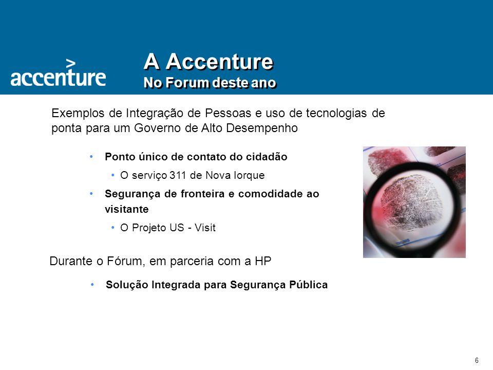 A Accenture No Forum deste ano