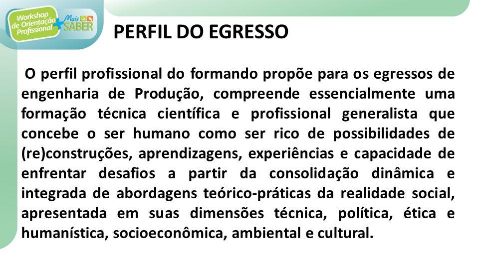 PERFIL DO EGRESSO
