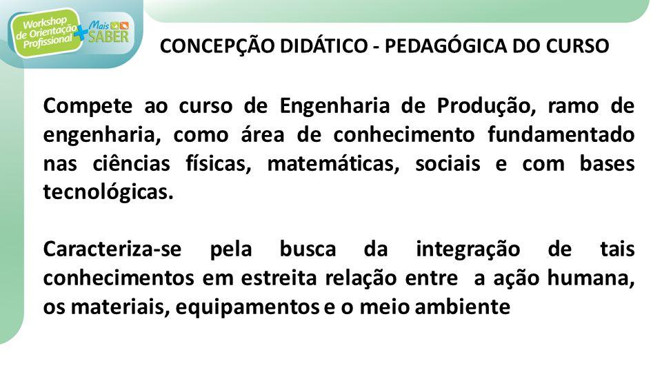 CONCEPÇÃO DIDÁTICO - PEDAGÓGICA DO CURSO