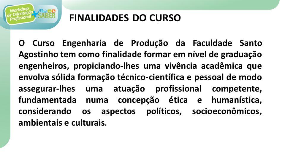 FINALIDADES DO CURSO