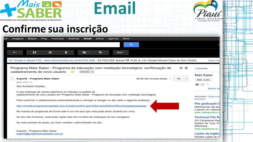 Email Confirme sua inscrição