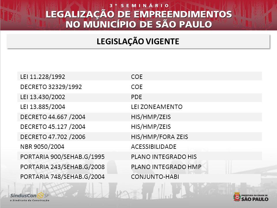LEGISLAÇÃO VIGENTE LEI 11.228/1992 COE DECRETO 32329/1992 COE