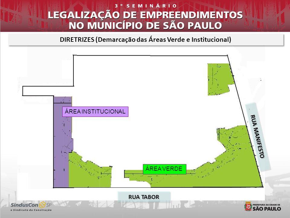 DIRETRIZES (Demarcação das Áreas Verde e Institucional)