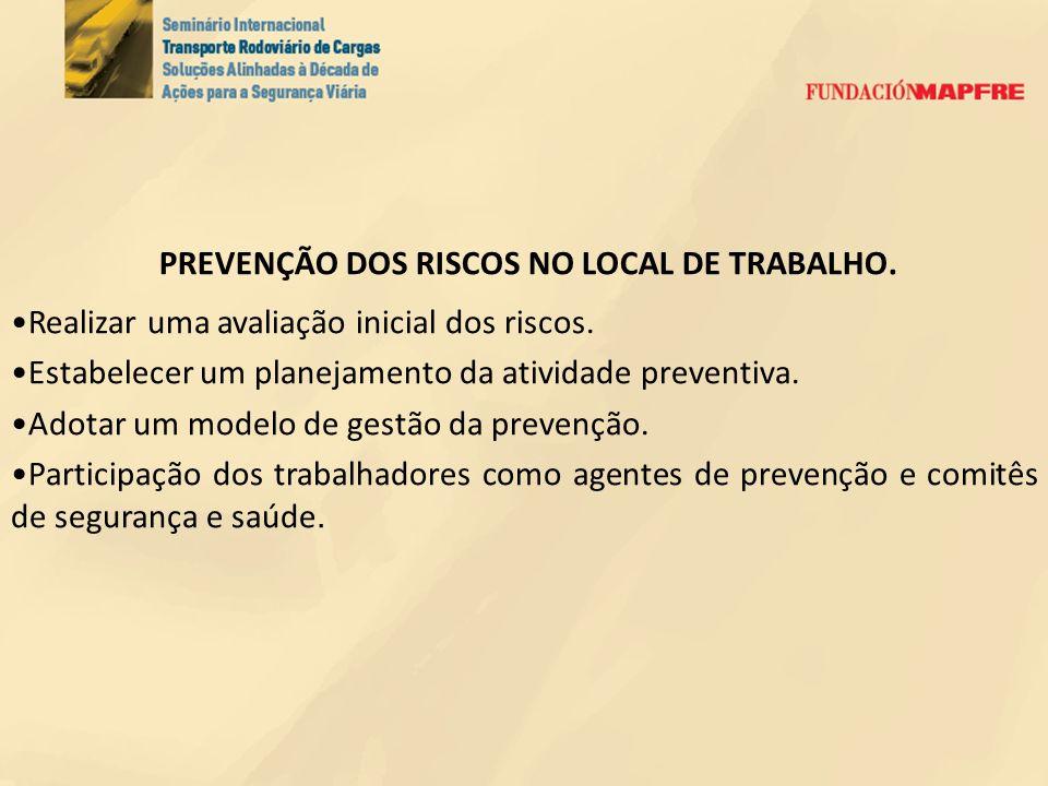 PREVENÇÃO DOS RISCOS NO LOCAL DE TRABALHO.