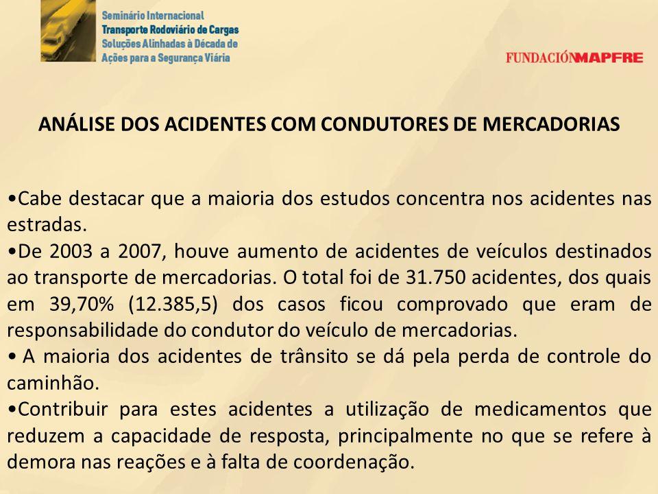 ANÁLISE DOS ACIDENTES COM CONDUTORES DE MERCADORIAS