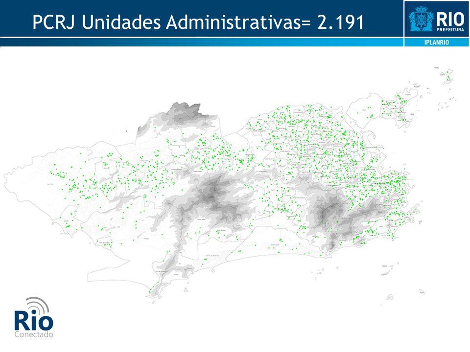 PCRJ Unidades Administrativas= 2.191