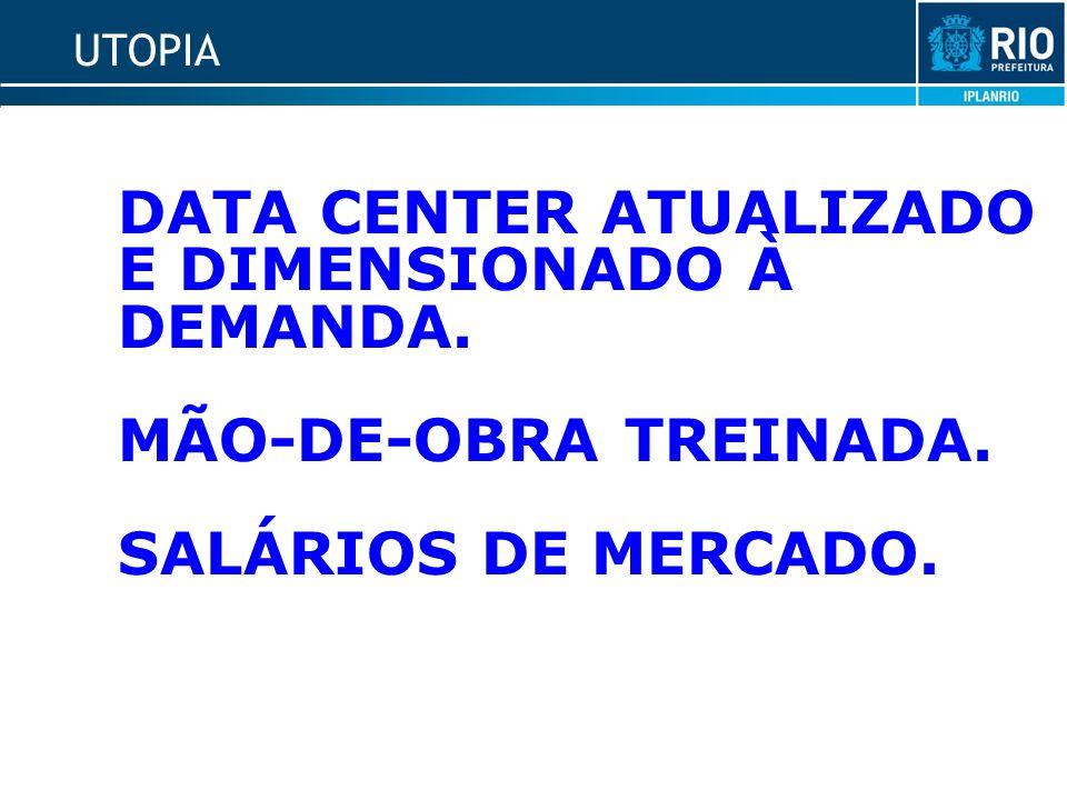 UTOPIA DATA CENTER ATUALIZADO E DIMENSIONADO À DEMANDA. MÃO-DE-OBRA TREINADA. SALÁRIOS DE MERCADO.