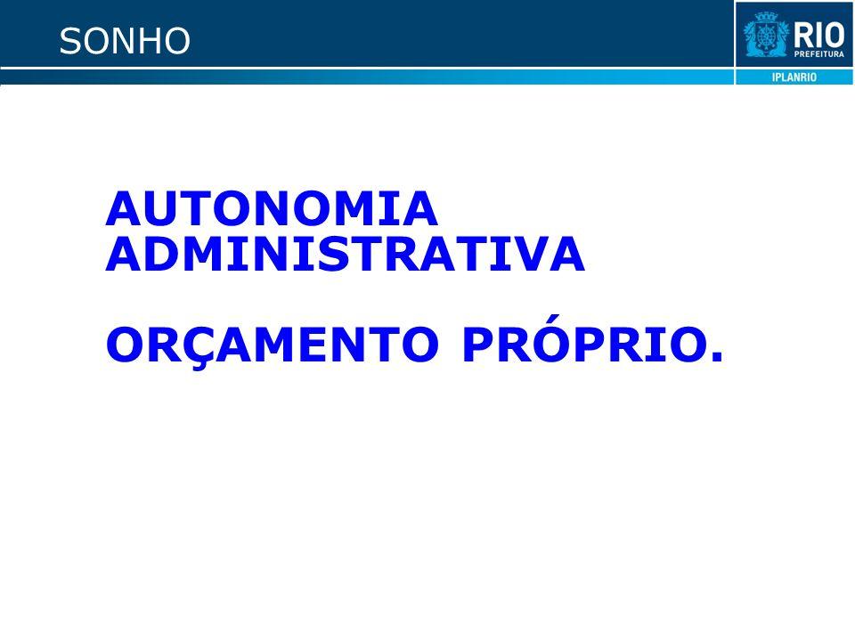 SONHO AUTONOMIA ADMINISTRATIVA ORÇAMENTO PRÓPRIO.