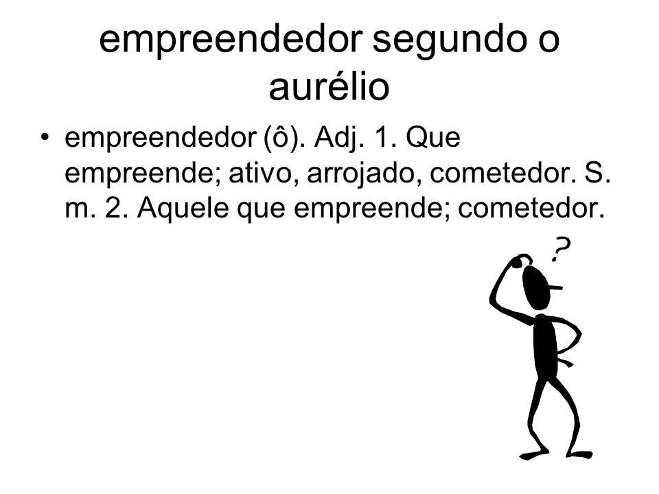 empreendedor segundo o aurélio