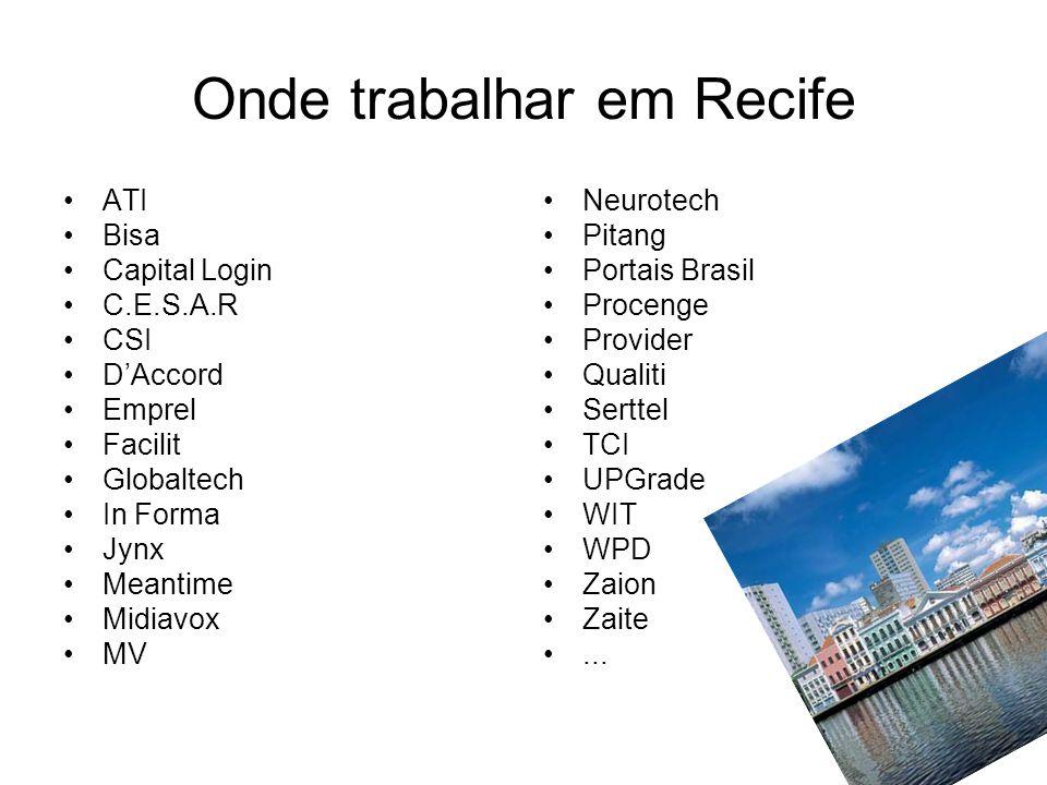 Onde trabalhar em Recife