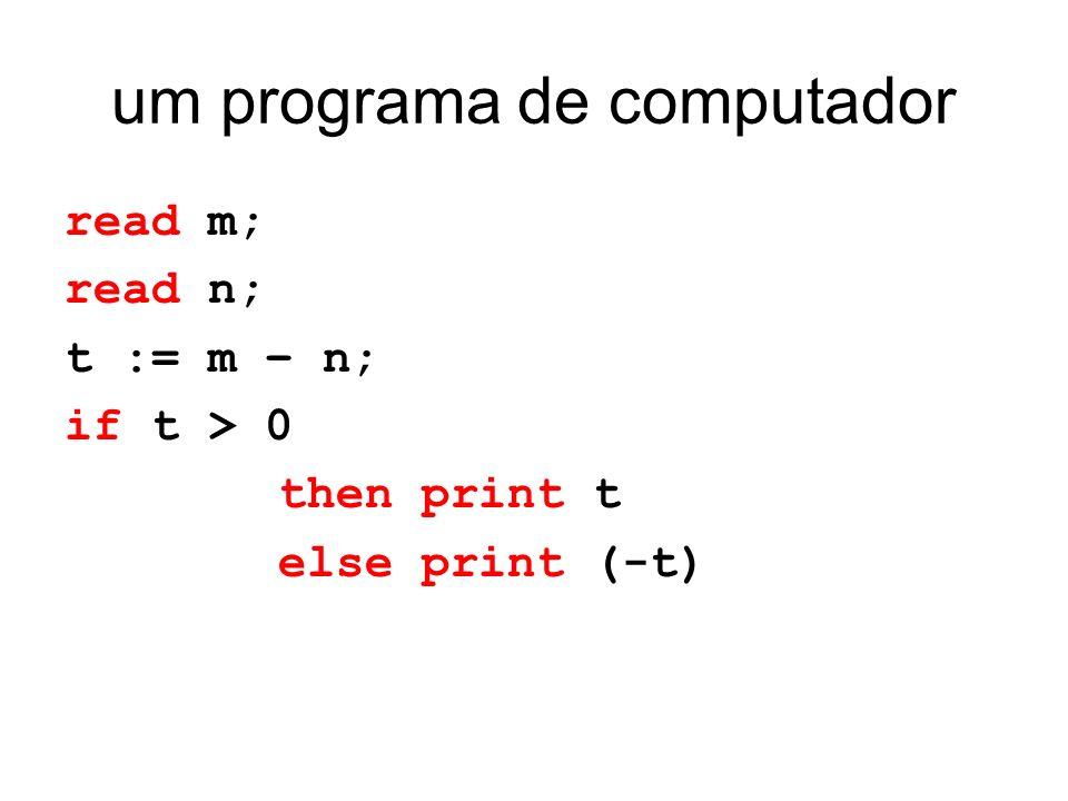 um programa de computador