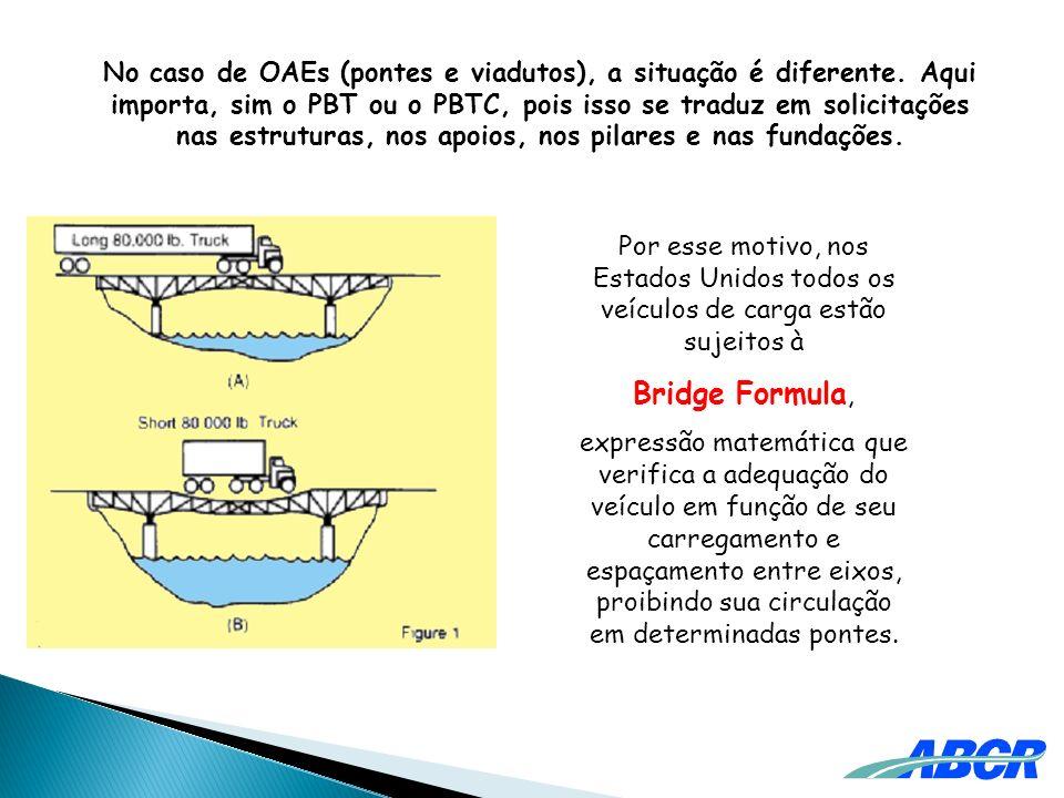 No caso de OAEs (pontes e viadutos), a situação é diferente