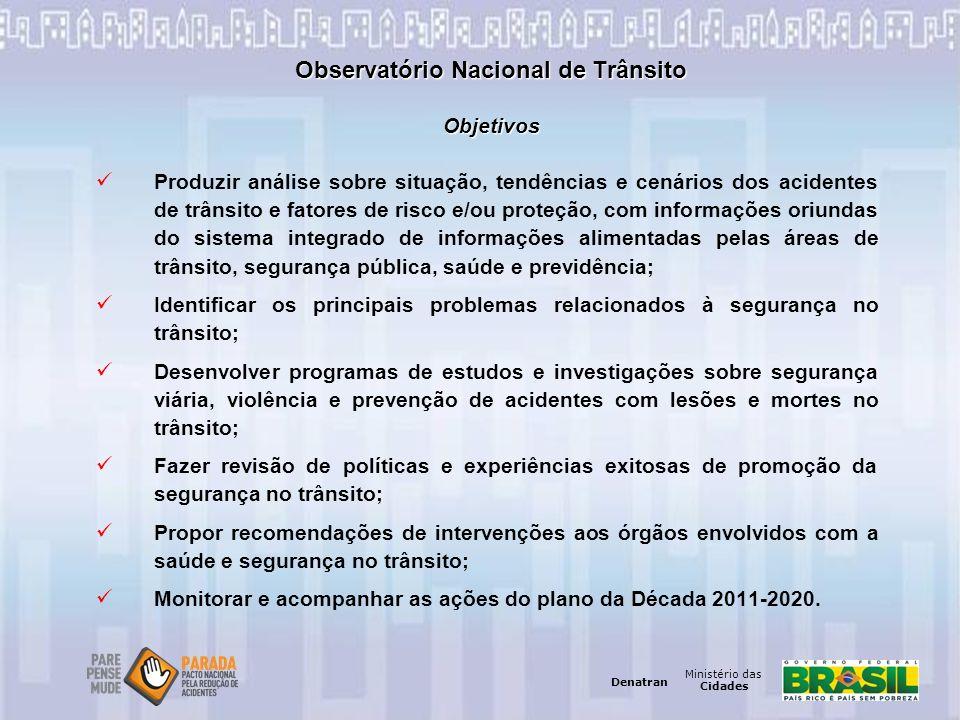 Observatório Nacional de Trânsito Objetivos