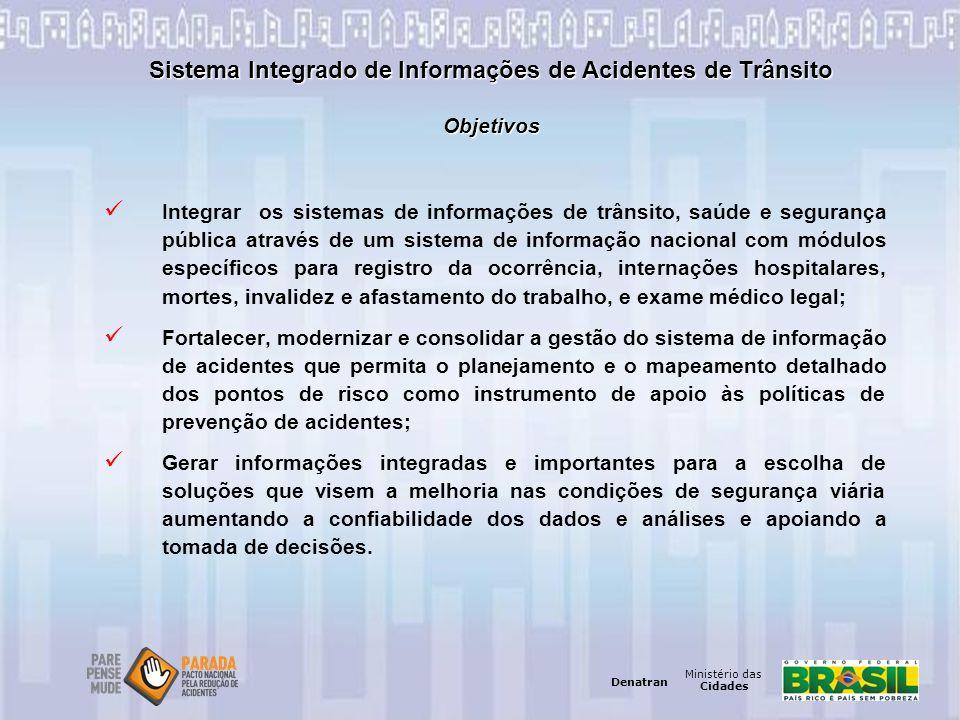 Sistema Integrado de Informações de Acidentes de Trânsito Objetivos