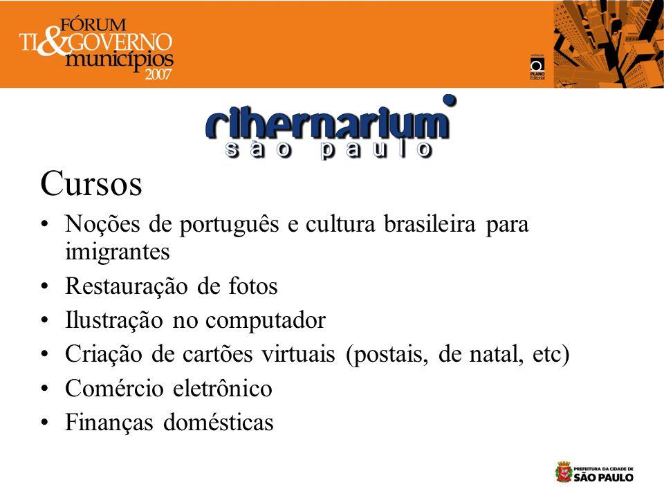 Cursos Noções de português e cultura brasileira para imigrantes