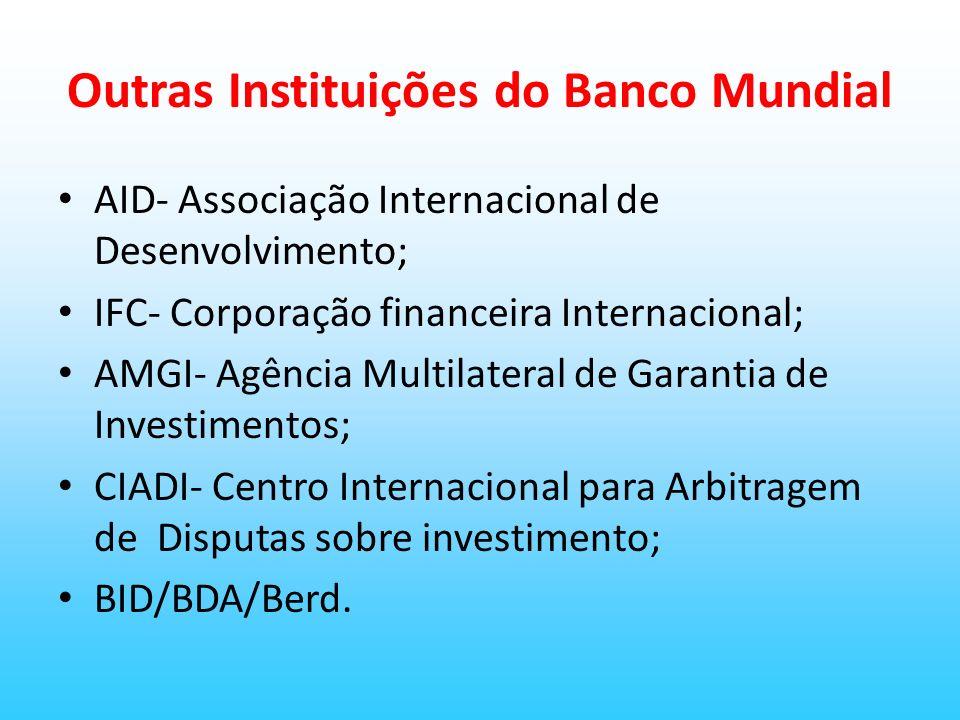 Outras Instituições do Banco Mundial