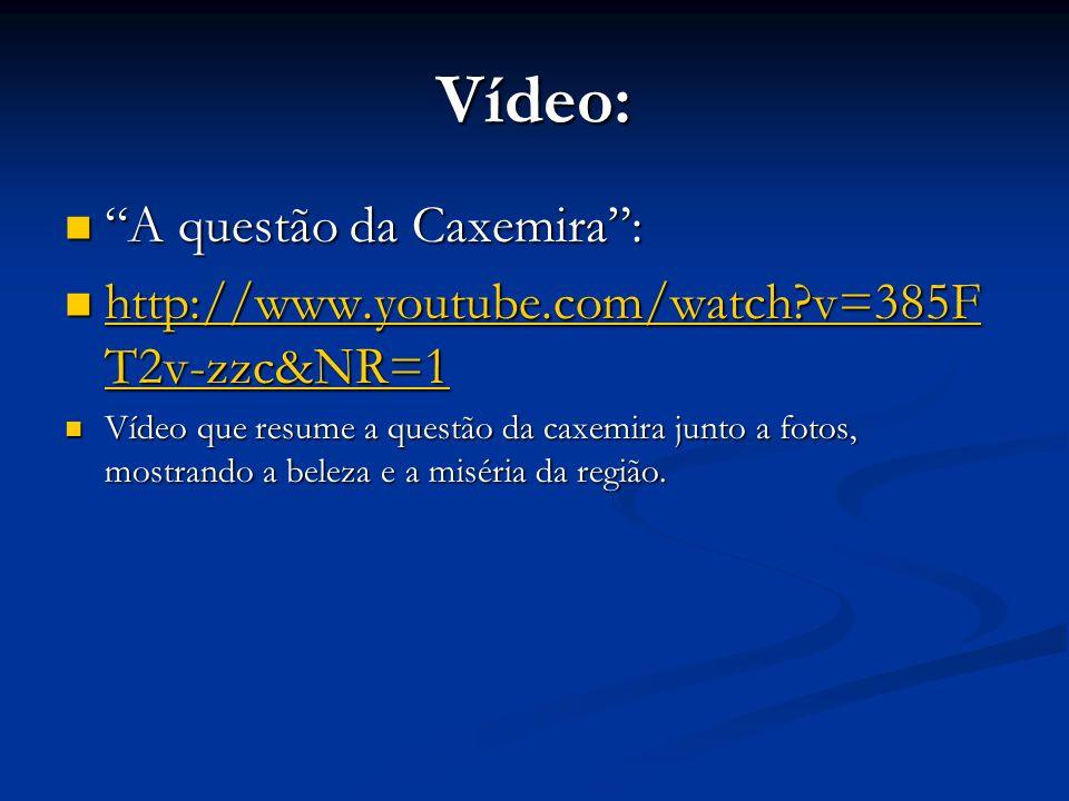 Vídeo: A questão da Caxemira :