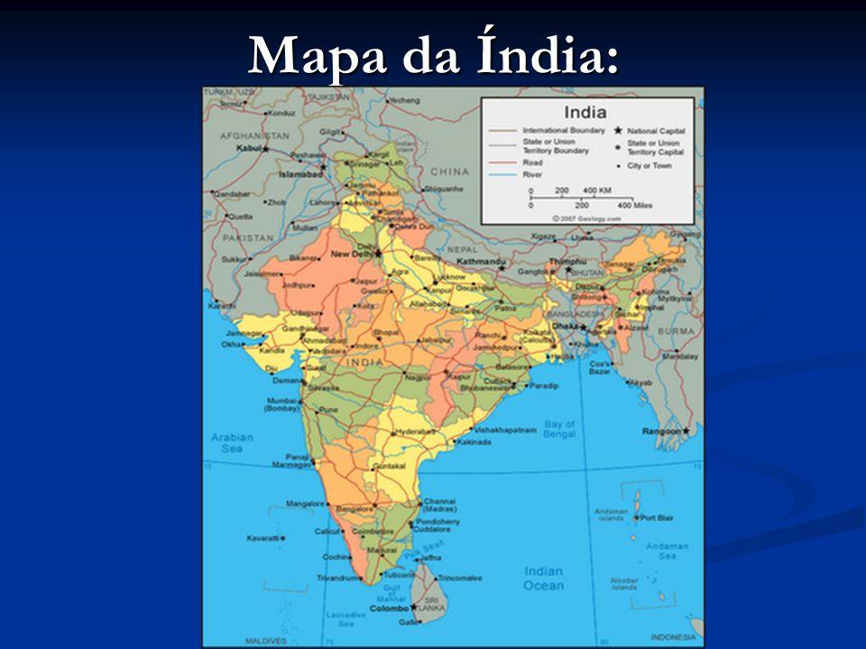 Mapa da Índia: