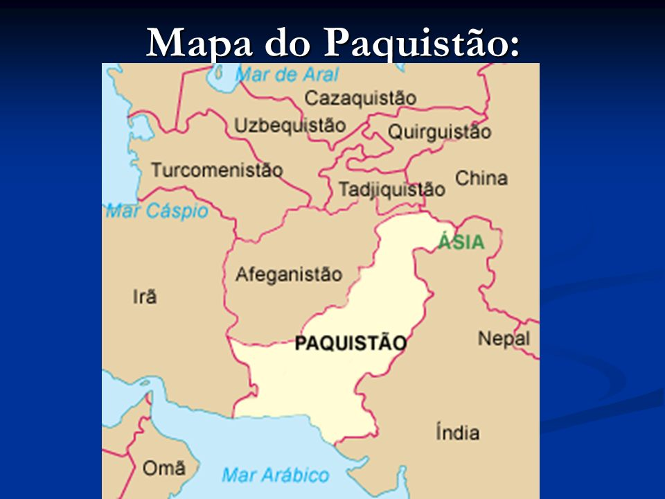 Mapa do Paquistão: