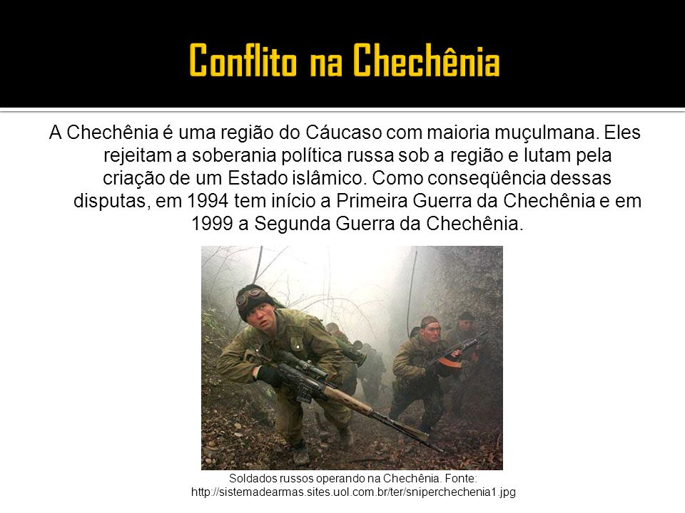 Conflito na Chechênia