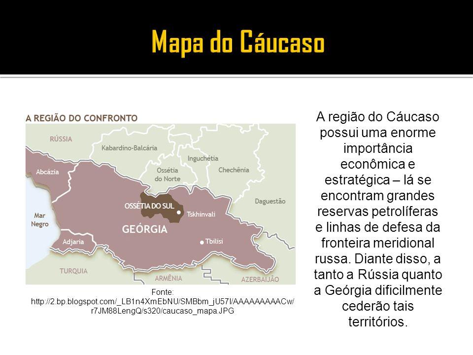 Mapa do Cáucaso