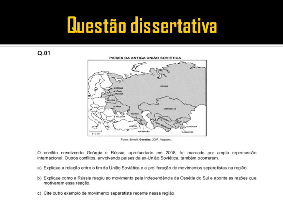 Questão dissertativa
